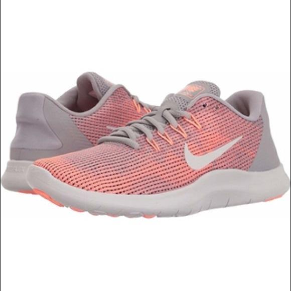 31768a898d016 NEW Nike Flex 2018 RN Crimson Pulse Grey WMNS Sz 8